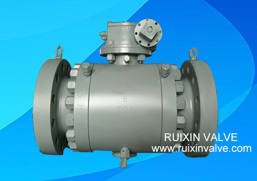 3 piece trunnion Mounted Forged Steel Ball Valve with Gear