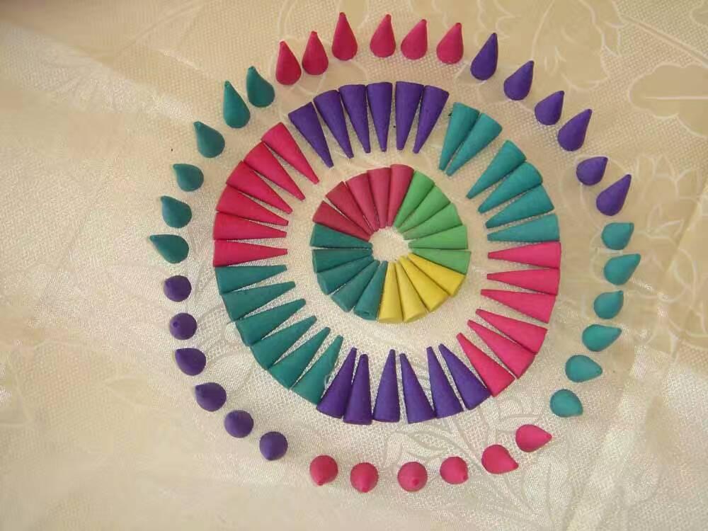 China made Natural Color Cones Agarbatti