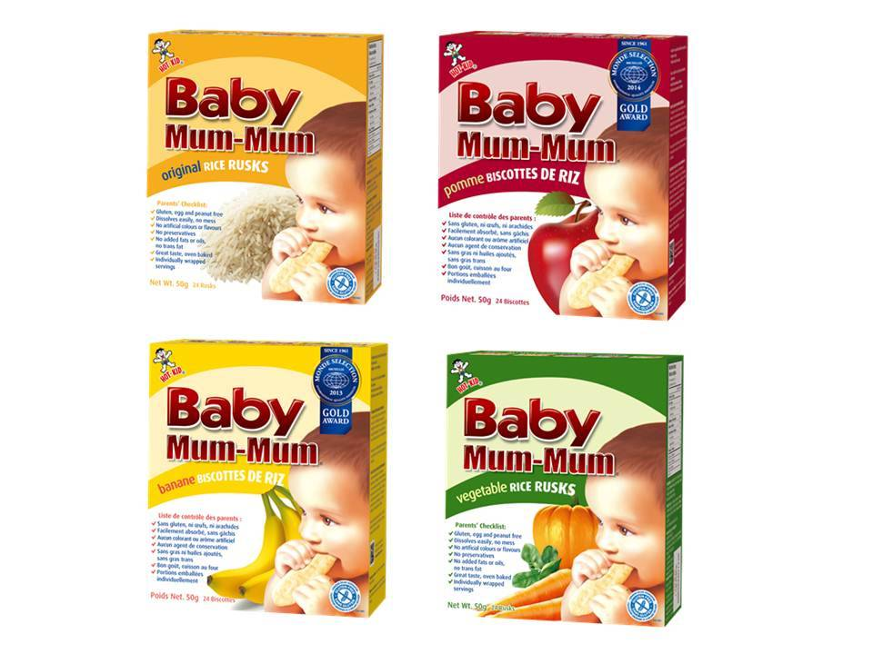 Baby Mum-Mum Baby Rice Crackers (OEM Available)