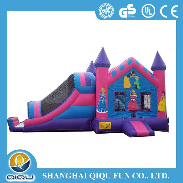 2015 Newest fashion cars inflatable slide for sliding games