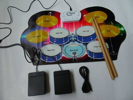 Shenzhen New Environmental 2016 Silicone Hand Roll MIDI Drum