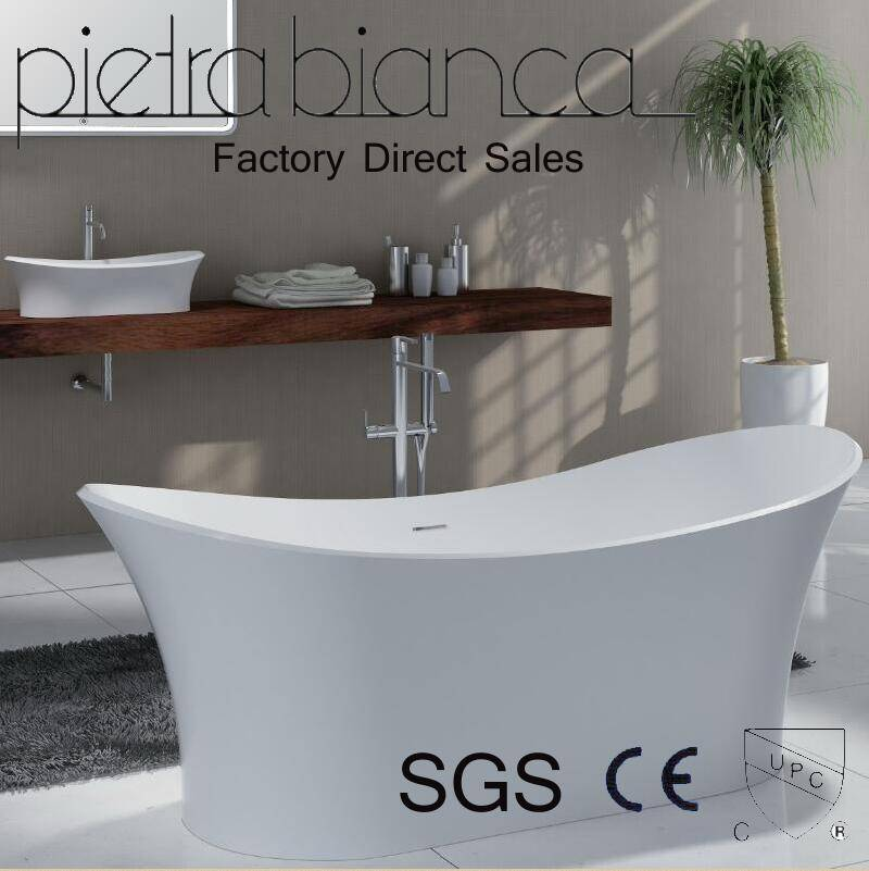 Corian Solid Surface Freestanding Bathtub with Cupc Approval (PB1020)