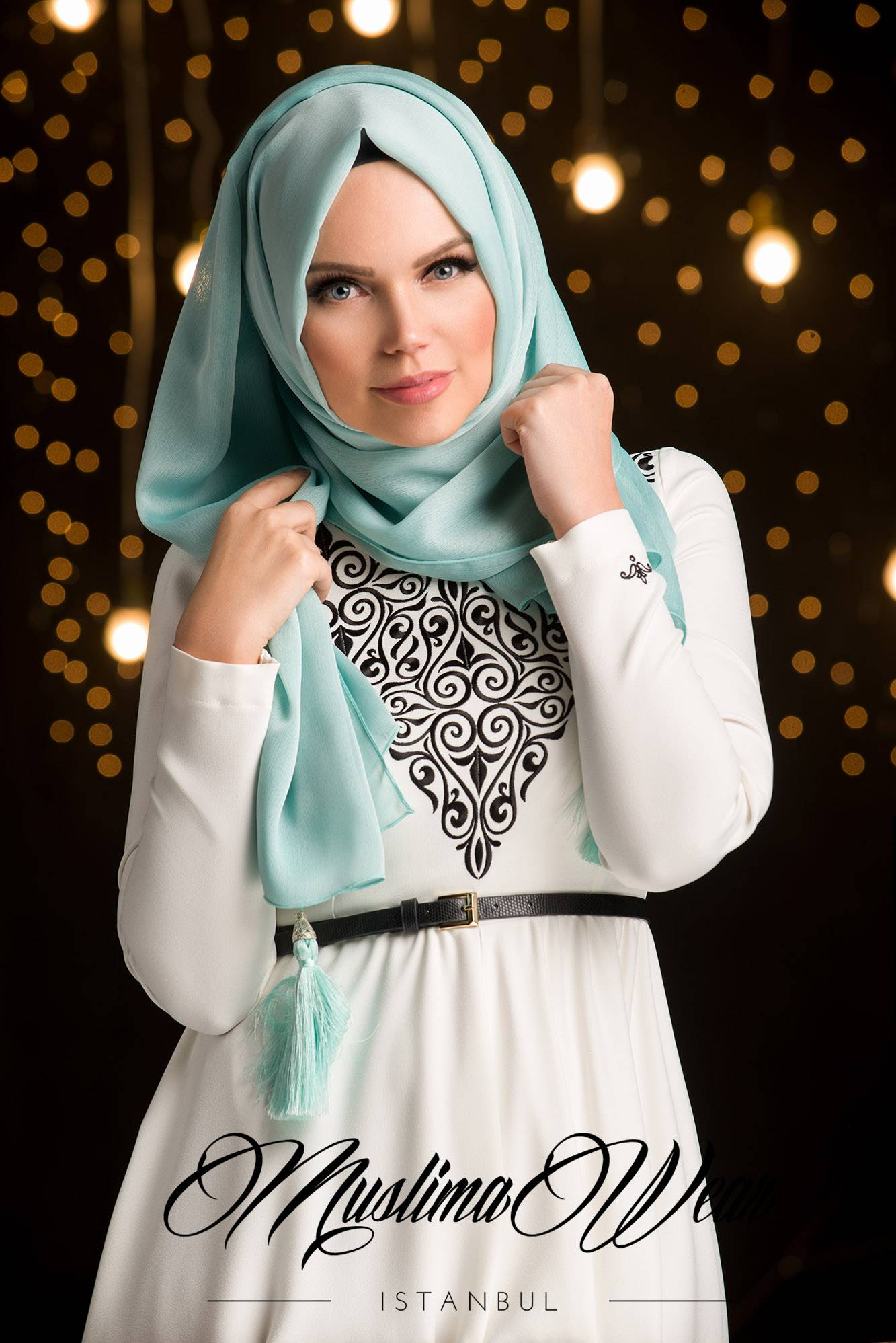 MW Hijabs with Tassels Color Mint