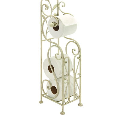 Wall Mounted Metal Wire Toilet Paper Holder With Shelf For Bathroom Powder Coated Finish Or Chrome