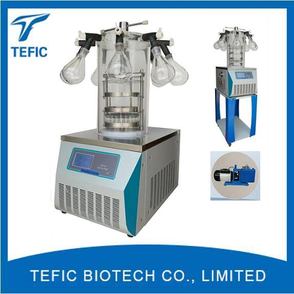 Manifold Top Press Type Laboratory Freeze Dryer Lyophilizer Manufacturers