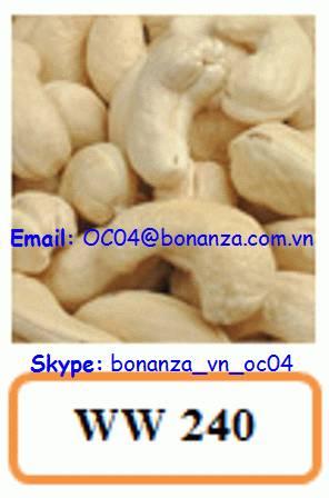 Cashew Nut White Whole 240 - WW 240