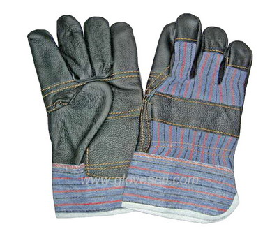 Sell dark color furniture leather gloves pasted cuff