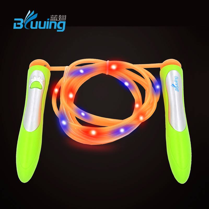 High quality new design speed color change glow light up skipping jump rope