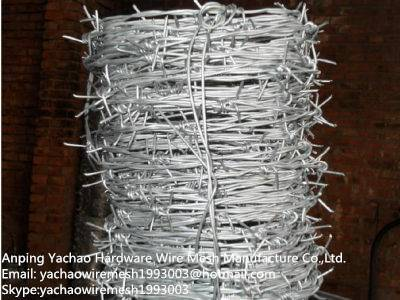 Fence usage 16 gauge 480m PVC coated electro barbed wire