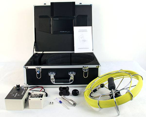 pipe/sewer/drain inspection camera with aluminum case