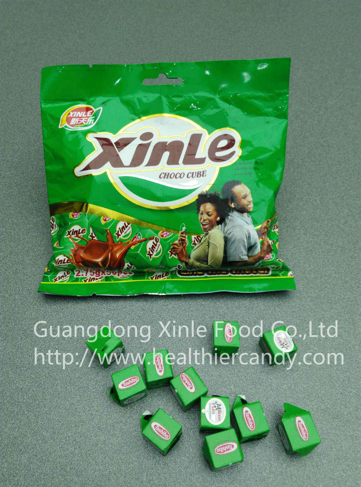 Hot Sale Cube Chocolate Flavour Healthy Candy Taste Delicious and Sweet