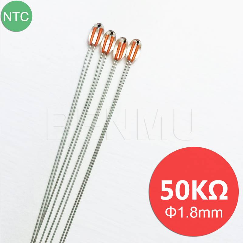 MGB18 50K 1% 3950 Galss NTC Thermistor thermal resistor for temperature sensor in Refrigerator+Air-c