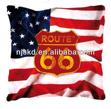 USA flag printed decorative cushion