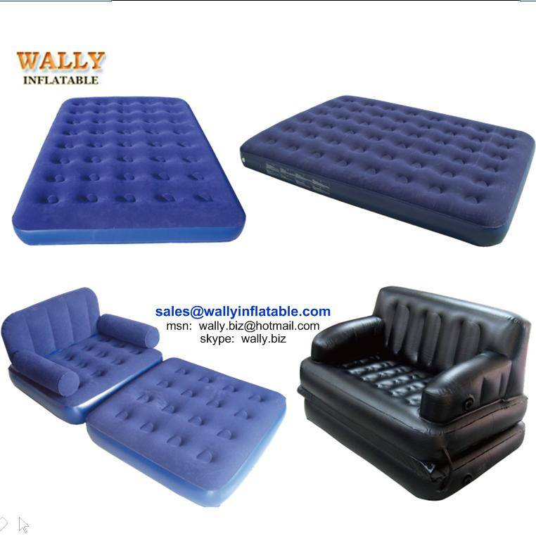 Inflatable air mattress, flocked air bed, single double queen king air bed