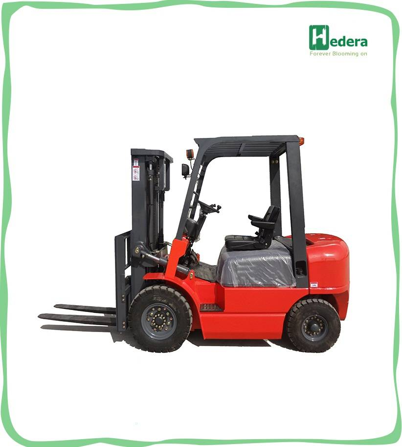 Reliable triplex mast diesel forklift truck with free lift