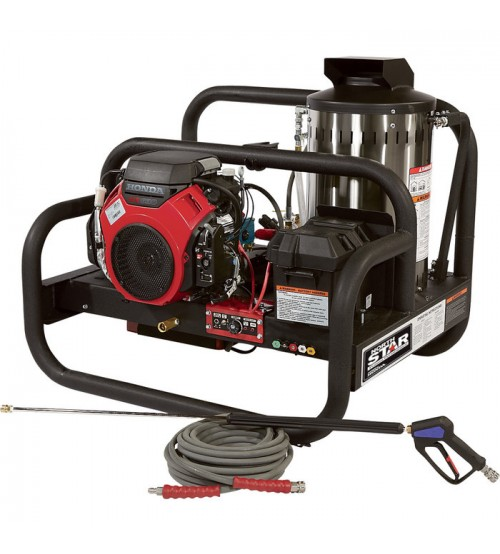 NorthStar Gas Hot Water Pressure Washer Skid - 4,000 PSI, 4.0 GPM, Honda Engine