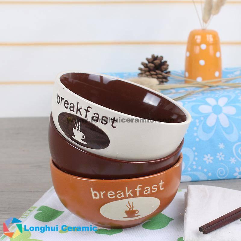 5.5'' coffee cup design ceramic breakfast bowl series