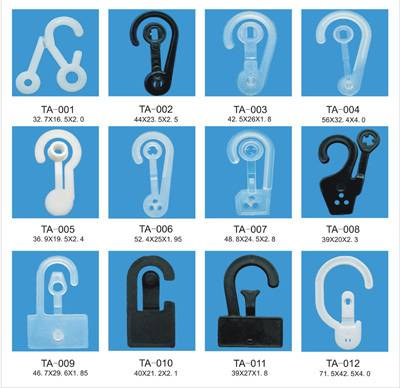 High quality of plastic snap fastener hooks TA001-TA012 produced by our own
