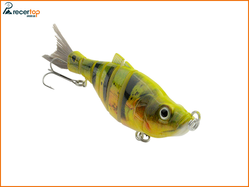 Small wholesale Hard lures Six-section shard with Softail fishing Lures