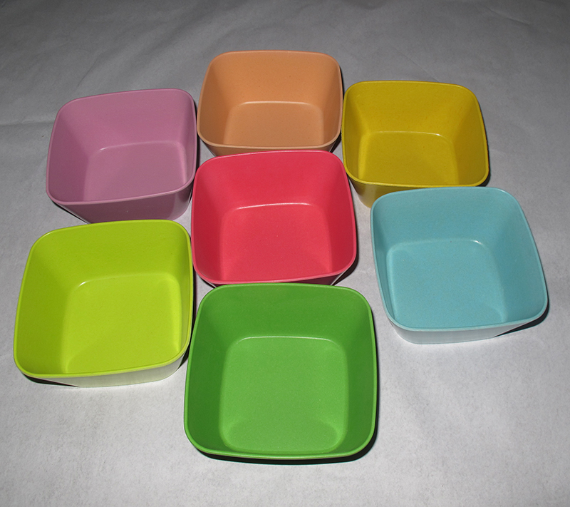 Hot Sale Eco-Friendly Square Biodegradable Bamboo Fiber Bowl