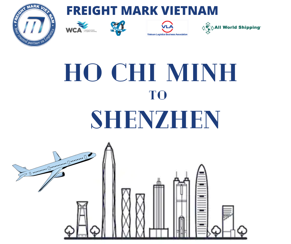 Cost effective Air freight from SGN Ho Chi Minh Vietnam to China SZX Shenzhen// CAN Guangzhou