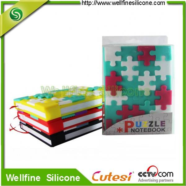 2015 cute notebook with mini snow DIY puzzle in A6 size