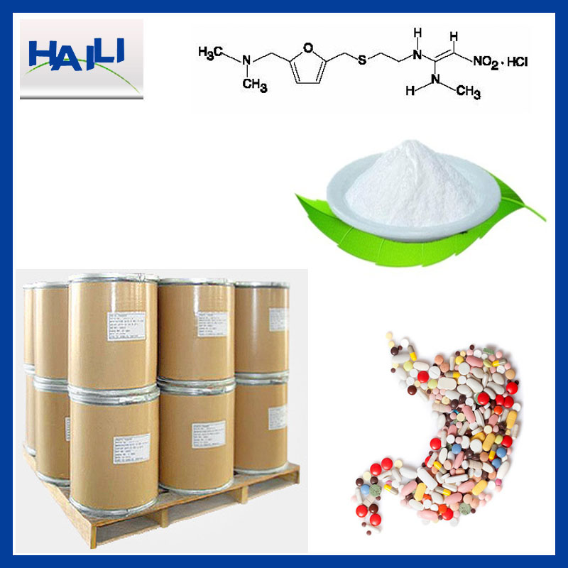 CAS NO 66357-59-3 Raw material API 99% powder Ranitidine HCL