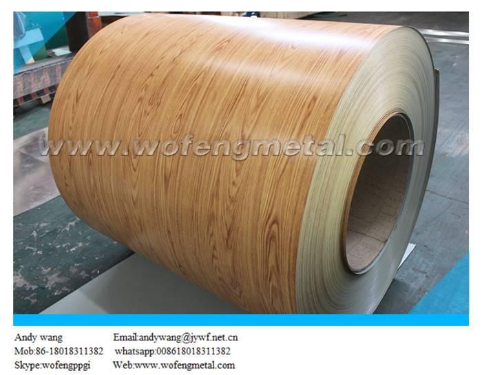 Imitation wooden pattern prepainted PPGI coil