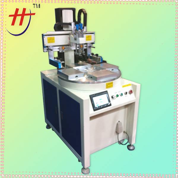 HS-260PME/4 4 station turntable screen printing machine with servo motor