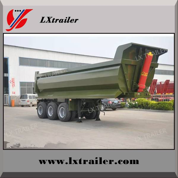 Liangxiang tractor truck used 3 alxes dump semi trailer