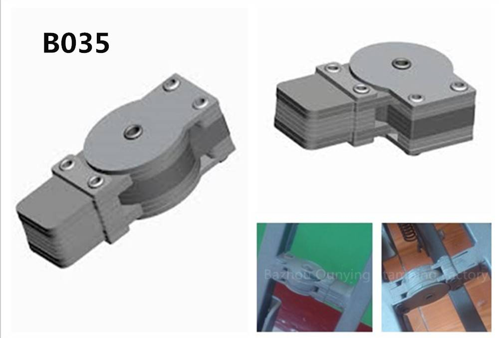 durable metal adjustable sofa bed gear hinge with multipel size and angles B035