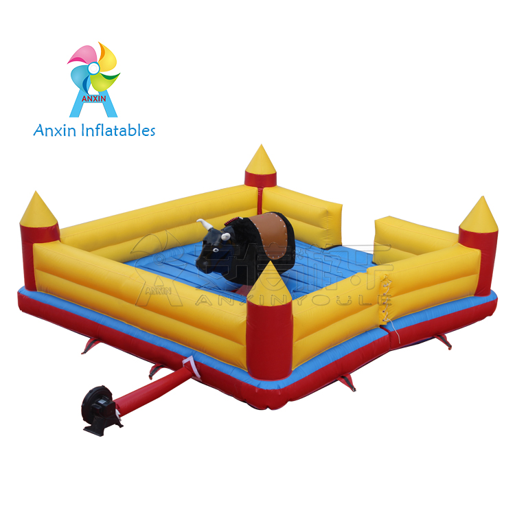 Inflatable bull riding machine, outdoor Redeo bull game for adult, amusement for bullfight