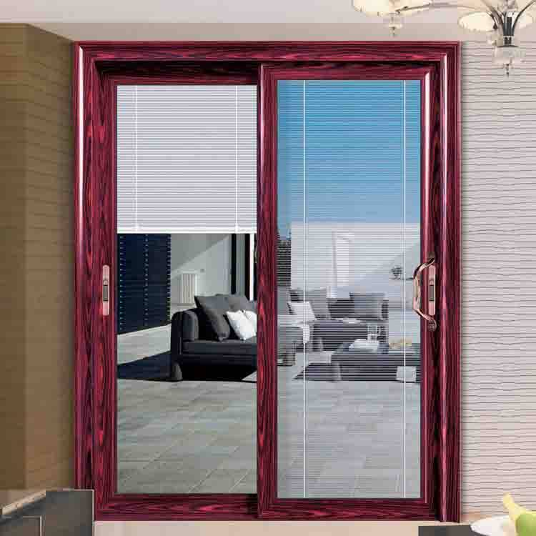 aluminium patio sliding doors with glass