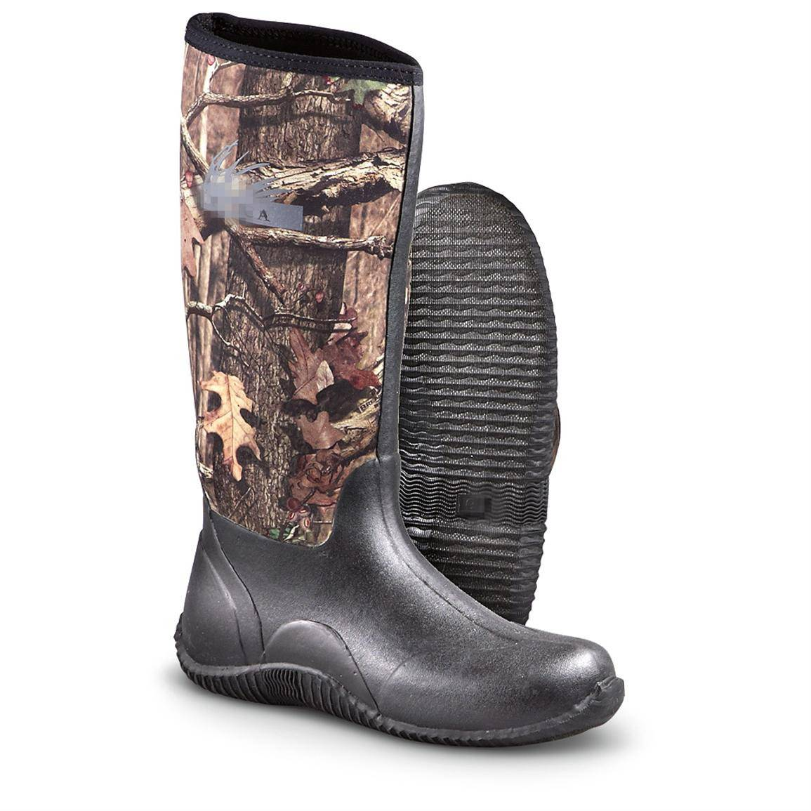 Mens Lightweight Camouflage/Camo Neoprene Hunting Boots