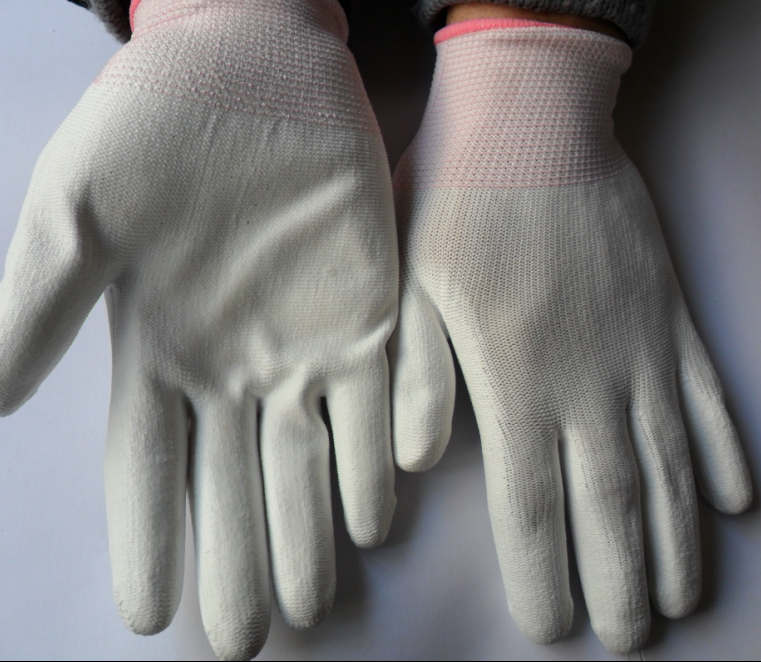 13G PU coated glove with nylon,pu palm coated glove,pu glove