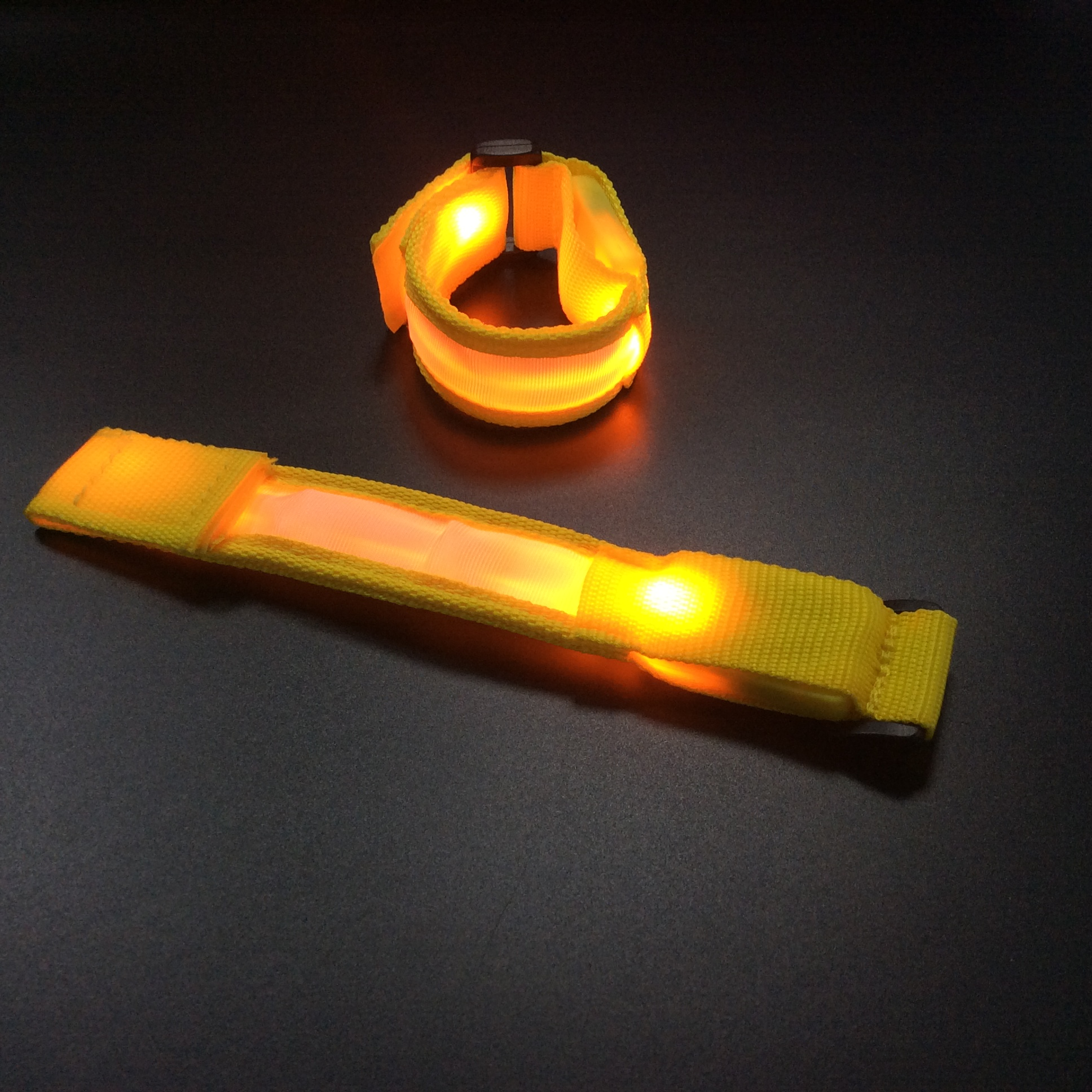 LED arm bands safety indicator