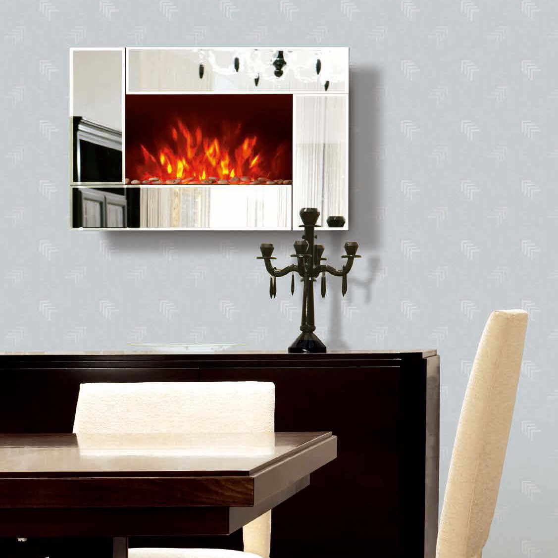 Fire Sense Wood Wall Mounted Electric Fireplace EF425S/EF425SP/EF425SL/EF425K mirror Chimenea Sentik