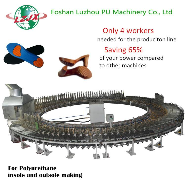Saving 65% Power for you! Rotary Insole and Outsole Polyurethane Foam Injection Machine PU Shoe Sole