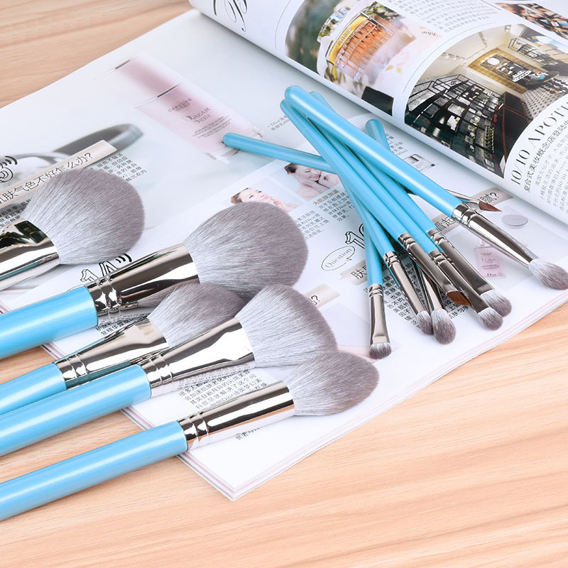 High Quality Factory Customized Professional 13pcs Keiskei Synthetic Portable Partysu Makeup Brush s