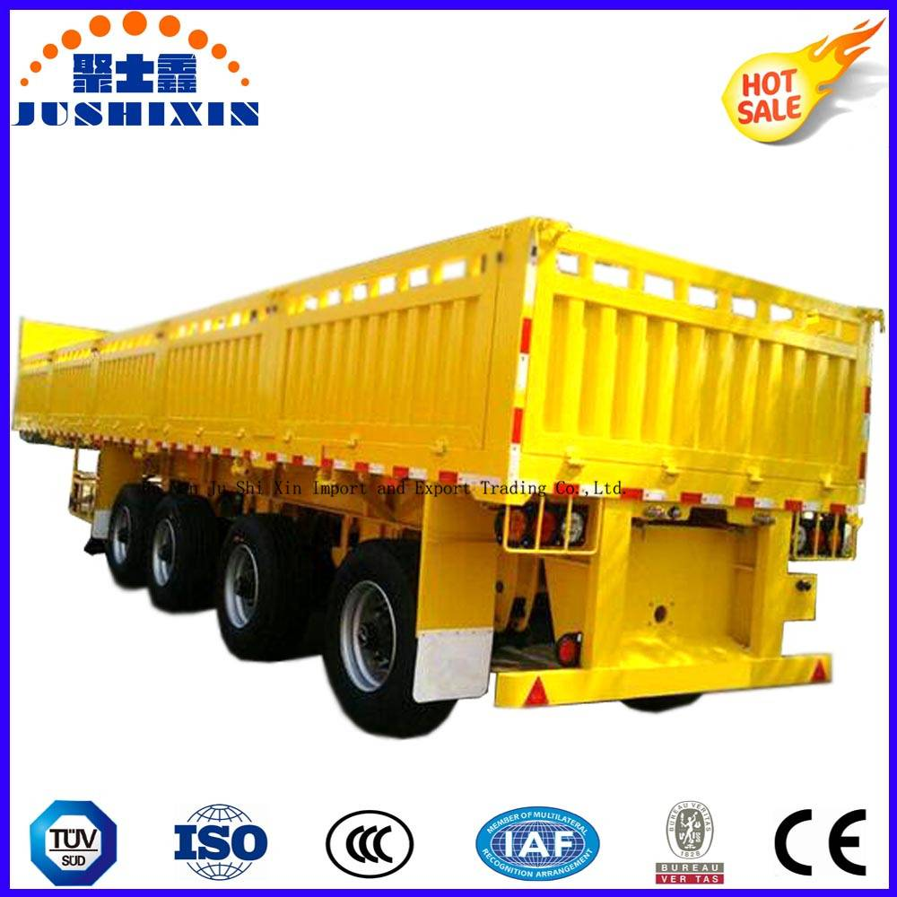 Bulk Cargo & Container Side Board/Side Wall/Fence/Sidewall 4 Axles Truck Trailer for Sale