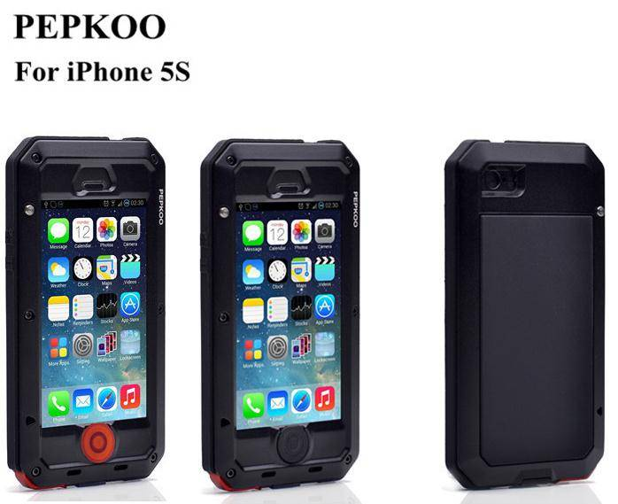 PEPKOO for iphone 5/5 s/c anti-corrosion metal shell
