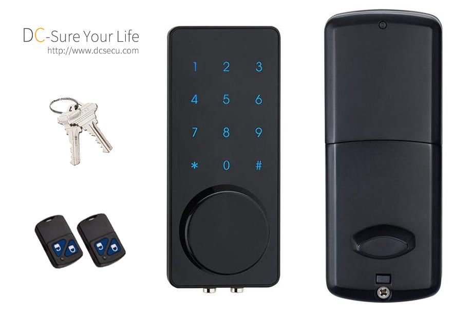 Commercial Residential Remote Controller Code Touchscreen Door Locks Deadbolt Keyless Digital Locks