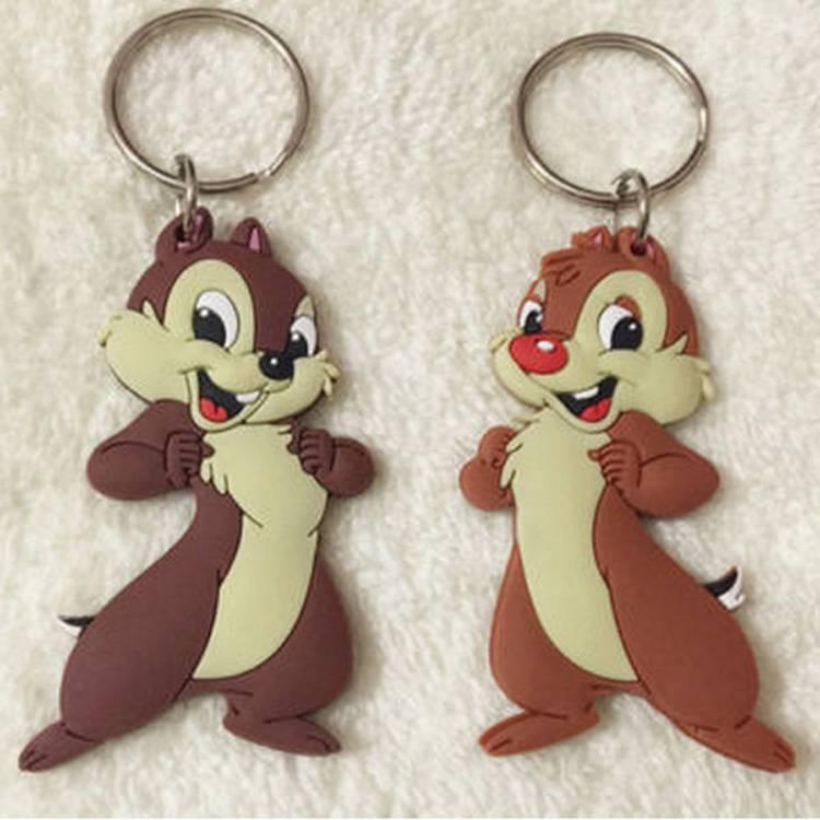 Rabbit Cartoon soft pvc keychain decoration