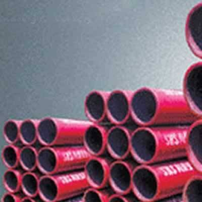 Abrasion resistant ceramic lined pipe