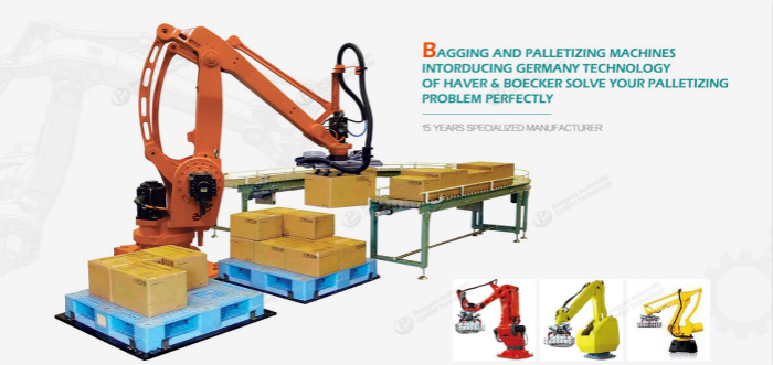 robot palletizer,stacking robot,automatic robot stacking machine,industrial robot arm