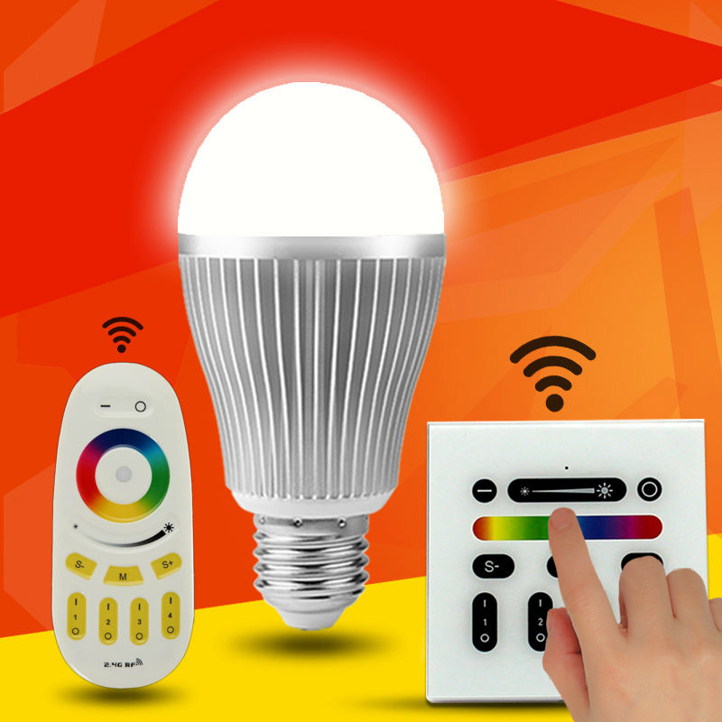 E27 RGBW LED Light Bulb Cordless Milight & 2.4G Remote Control & WiFi Controller