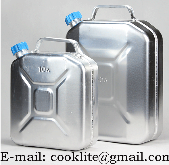 Aluminum Jerry Can Fuel Petrol Diesel Tank Portable Oil Water Container With Screw Cap