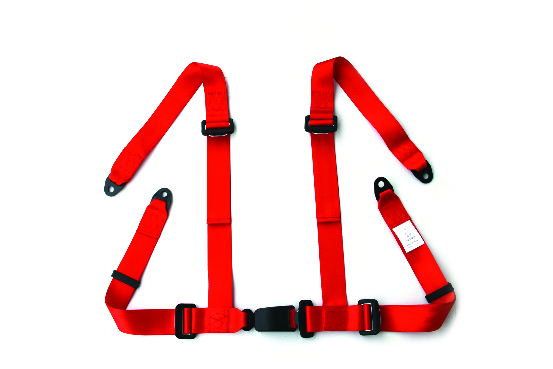 Red 4 Points racing car seat belt