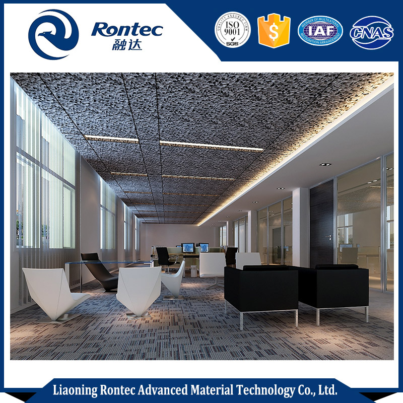 House Or Office Decorative Ceiling Tiles With Sound Insulation