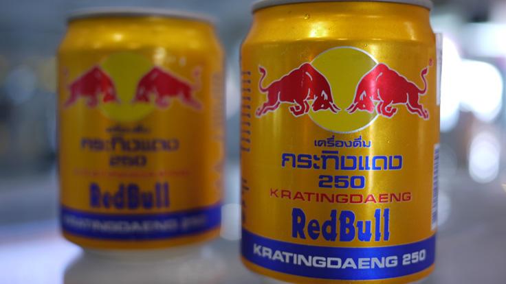 Thai Red Bull Energy Drink (Kratingdaeng) gold can